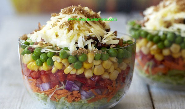 Retro Ten Layer Salad, Rozanne Stevens | Forked